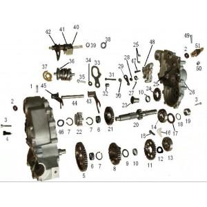 Запчасти механизма переключения передач (часть1) квадроцикла side-by-syde Stels UTV 800V Dominator