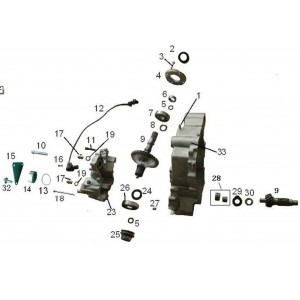 Запчасти механизма переключения передач (часть 2) квадроцикла side-by-syde Stels UTV 800V Dominator