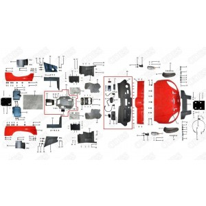 Запчасти облицовки корпуса квадроцикла side-by-syde Stels UTV 800V Dominator