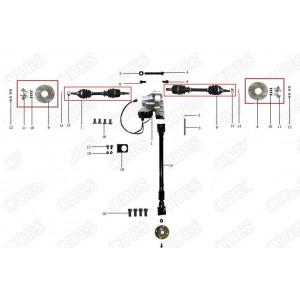 Запчасти переднего редуктора и приводных валов квадроцикла side-by-syde Stels UTV 800V Dominator