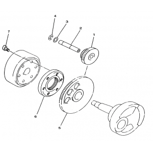 Запчасти привода стартера квадроцикла Stels ATV 300B