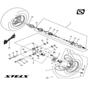 Запчасти привода передних колес квадроцикла Stels ATV 300B