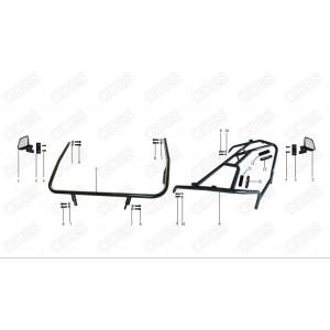 Дуги безопасности и зеркала квадроцикла side-by-syde Stels UTV 800V Dominator