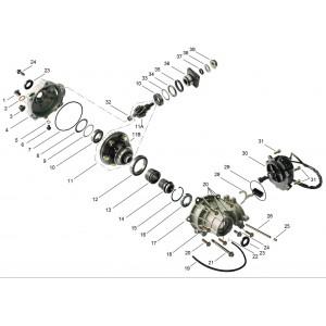 Запчасти переднего редуктора квадроцикла side-by-syde Stels UTV 800V Dominator