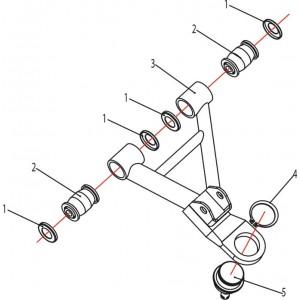 Рычаги передней подвески верхние Stels ATV 500K-GT