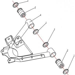 Запчасти нижних рычагов задней подвески квадроцикла Stels ATV 500K-GT