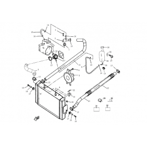 Запчасти системы охлаждения квадроцикла Stels ATV 300B