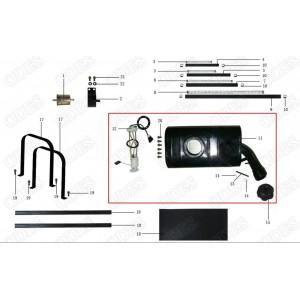 Запчасти топливного бака квадроцикла side-by-syde Stels UTV 800V Dominator