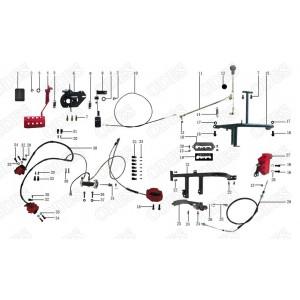Запчасти тормозной системы квадроцикла side-by-syde Stels UTV 800V Dominator