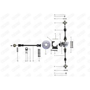 Запчасти задниего редуктора и приводных валов квадроцикла side-by-syde Stels UTV 800V Dominator