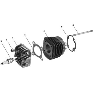 Запчасти головки цилиндра и цилиндра скутера Stels 50 Arrow Benelli