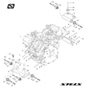 Запчасти подвески двигателя снегохода Stels S800 Rosomaha