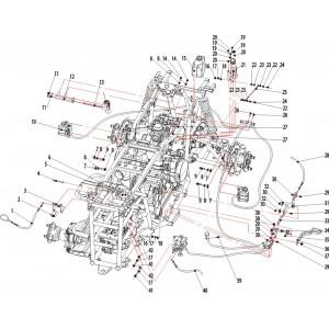 Запчасти рамы сборки 003 квадроцикла Stels ATV 500K-GT