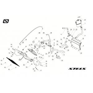 Запчасти системы охлаждения двигателя снегохода Stels S800 Rosomaha